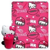 Hello Kitty NFL Titans Blanket and Hugger Bundle (40 x 50)