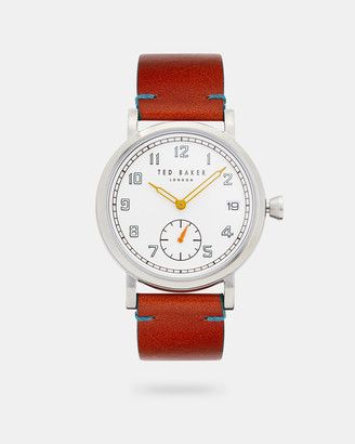 Ted Baker LOGAAN Printed leather strap watch