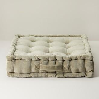 Indigo Velvet Floor Pillow Sage