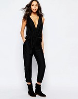 Sessun Sleeveless Jumpsuit in Black