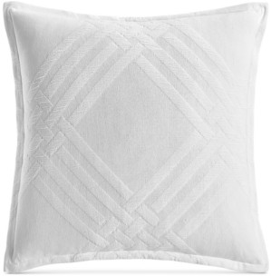 """Hotel Collection Closeout! Locked Geo Cotton 26"""" x 26"""" European Sham, Created for Macy's Bedding"""