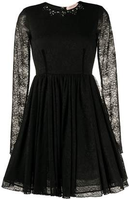 Twin-Set long sleeve lace dress