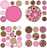 Wall Pops Brown/Pink Gone Dotty MiniPops Wall Art Kit