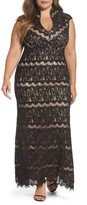 Marina Plus Size Women's Lace Empire Gown