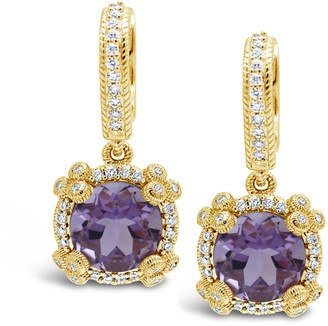 Judith Ripka 14K Gemstone & Diamond Earrings
