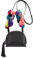 Loeffler Randall Suede-trimmed Leather Shoulder Bag - Black