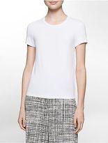 Calvin Klein Womens Platinum Stretch Jersey Short-Sleeve T-Shirt