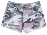 Tractr Girl's Distressed Camo Shorts