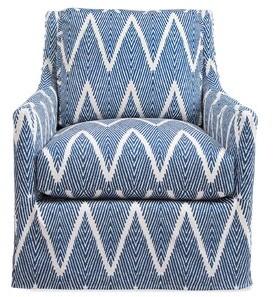 "Imagine Home Dawson 33"" W Cotton Swivel Armchair"