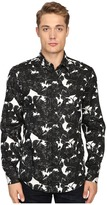 Just Cavalli Slim Fit Rebel Youth Pring Woven Shirt Men's Clothing