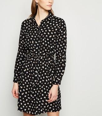 New Look Contrast Spot Drawstring Mini Dress