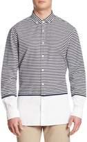Tommy Hilfiger Men's Striped Button-Down Shirt