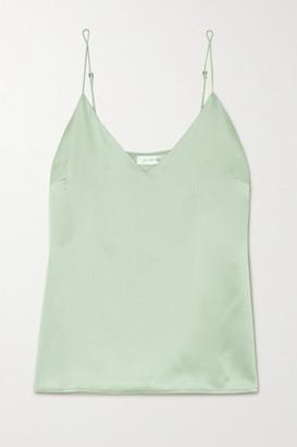 Anine Bing Gwyneth Silk-satin Camisole - Green