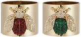 Joanna Buchanan Bee Napkin Rings, Set of 2, Red / Green