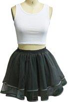WDPL Women's Mini Layered Tulle Evening Skirt Party Tutu