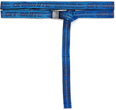 Off-White Jacquard Belt - Blue