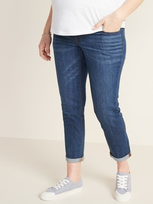 Old Navy Maternity Full-Panel Boyfriend Straight Jeans