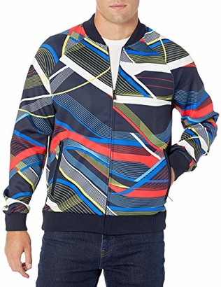 Sean John Men's All Over Curve Print Track Jacket
