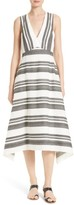 Tibi Women's Organza Stripe Midi Dress