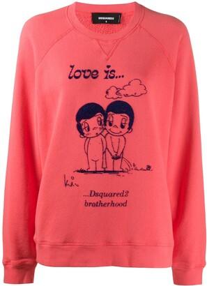 DSQUARED2 Love Is print sweatshirt
