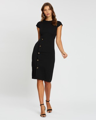 Atmos & Here Elliana Button Side Dress