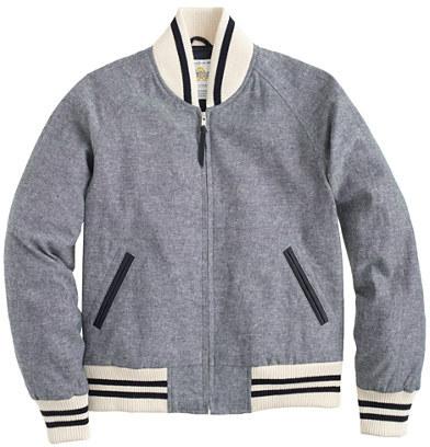 GoldenBear Golden Bear Sportswear® for J.Crew linen varsity jacket