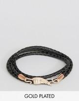 Simon Carter Leather Wing Bracelet