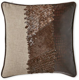 cloud 9 Faux Gator and Sequin Pillow