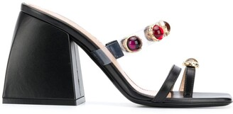 Nodaleto 100mm Stone-Embellished Sandals