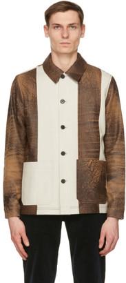 Wood Wood Brown Leather Winston Jacket