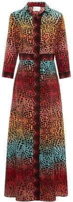 Hayley Menzies Ombre Crocodile Shirt Dress