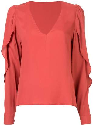 Bianca Spender Concorde slit sleeve blouse
