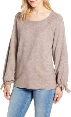 Wit & Wisdom Tie Sleeve Sweater