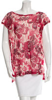 Jean Paul Gaultier Mesh Floral Print Top w/ Tags