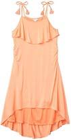 Habitual Corrine Cover-up High-Low Dress (Big Kids) (Coral) Girl's Swimwear