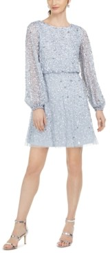 Adrianna Papell Petite Sequinned Fit & Flare Dress