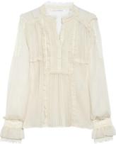 Cleland silk-chiffon blouse
