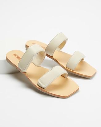 Sol Sana Women's White Flat Sandals - Monica Slides - Size 38 at The Iconic