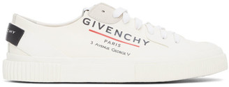 Givenchy Off-White Logo Tennis Sneakers