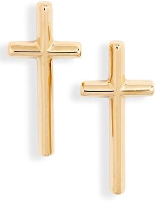 Knotty Cross Stud Earrings