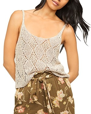 Free People Glisten Crochet Tank