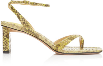 Alexandre Birman Nelly Python And Leather Sandals