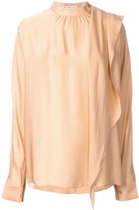 REJINA PYO Ira draped satin blouse