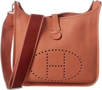 Hermes Orange Clemence Leather Evelyne Iii Gm