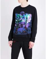 Lanvin Graphic-printed cotton-jersey sweatshirt