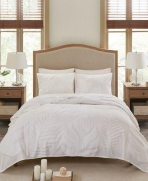 Madison Home USA Bahari King/California King 3-Pc. Tufted Cotton Chenille Palm Coverlet Set