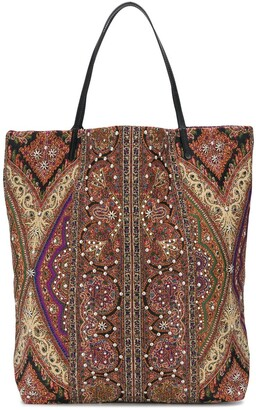 Etro Embroidered Beaded Tote Bag