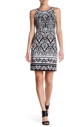 Hale Bob Embellished Print Dress