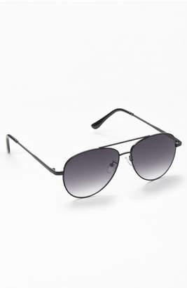 Pacsun. PACSUN. Black Flat Lens Aviator Sunglasses