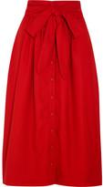 Sea Wool-piqué Skirt - Red
